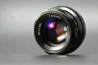 REAL EU SHIP!✮ 7Artisans 35mm f/1.2 Wide-Angle manual lens for CANON EOS-M mount
