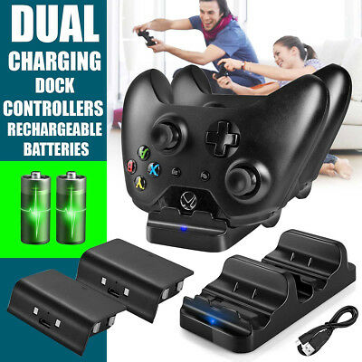 Dual Charging Dock Station Controller Charger+2 Extra Battery Pack For One