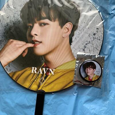ONEUS 808 K-pop RAVN Uchiwa Paper Fan and Can Badge ONEUS JAPAN 2ND SINGLE 808