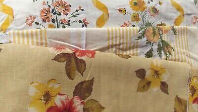 Bundle Vintage French Fabric Country Farmhouse florals