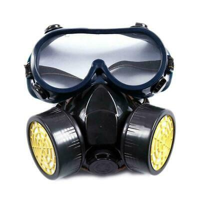 Emergency Survival Safety Respiratory Gas Mask Goggles Dual Protection &2 F H4J1
