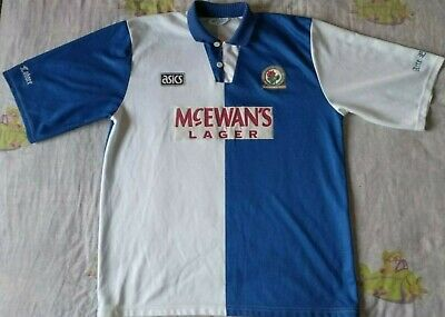 Camiseta Trikot Shirt BLACKBURN ROVERS Asics Season 1993 Size XL Vintage