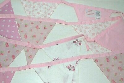 Pretty Pink & White  Bunting From Next For Girls, Baby Bedroom Nursery