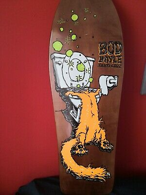 Santa cruz  Bod Boyle, sick cat, skateboard deck reissue