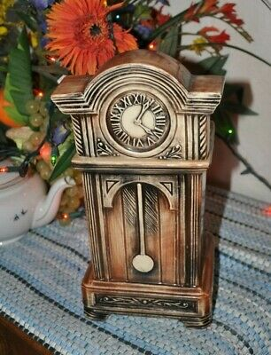 McCoy Cookie Jar Vintage Grandfather Clock USA  Kitchenware Collectible 1930's