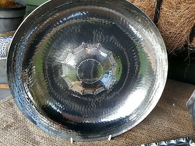 "VINTAGE LRI BORROWDALE HAND CRAFTED Stainless Steel circular bowl 10.5"" DIAM"