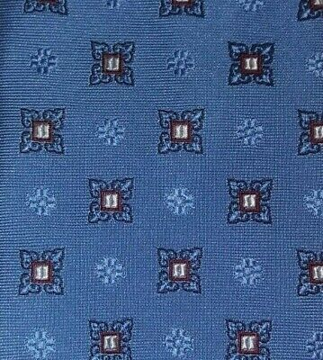 BROOKS BROTHERS MAKERS MERCHANTS XL Tie 100% Silk Blue/Burgundy Color L63 W3.3