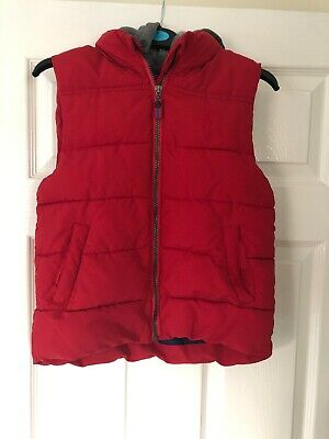 Boys Blue Zoo Gilet. Age 7-8 Years. Red And Grey