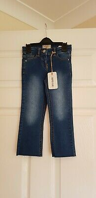 BNWT Next Girls Cropped Flare Jeans Size 5 Years