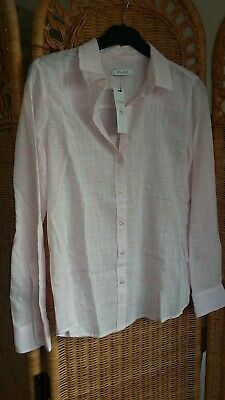Marks And Spencer Women's Pale Pink Shirt Size 8