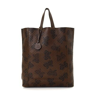 Preloved Bottega Venetta LEATHER TOTE BAG BROWN 100% Authentic with A RATING