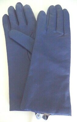 Fownes Leather 100% Cashmere Lined Gloves,Royal Blue, XLarge