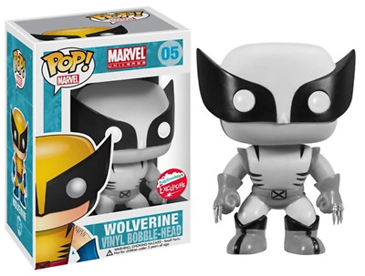 Funko Pop! Wolverine (Black & White) 05 - Fugitive Toys Exclusive [Condition: 7.