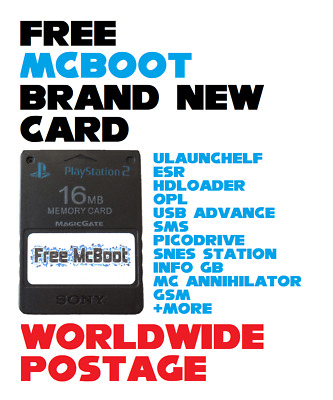 Brand New Free McBoot Memory Card / Latest Version 1.966 / 16MB / PS2 / FMCB