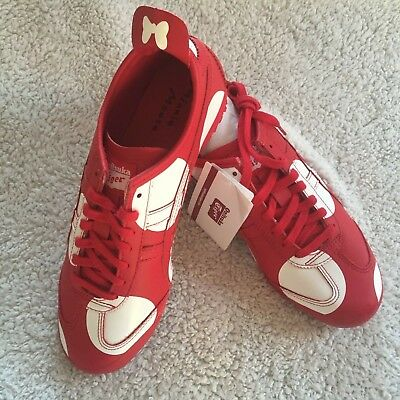 ASICS Onitsuka Tiger Mexico 66 X Disney Minnie Mouse Red Trainers Size UK 7