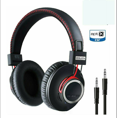 Dylan HB-01 Wired & Wireless Bluetooth Stereo Over Ear Headphones Foldable Red