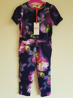 Ted baker Girls Floral Jumpsuit. Ages 4 Years. BNWT. Designer.