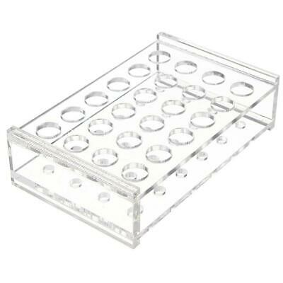 For 11mm/15ml Testing Tubes 24 Holes Test Tube Rack Lab Plastic Holder Stor J0R7