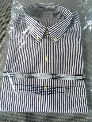 New Brooks Brothers Stripes Purple Shirt Slim Fit 15.5 - 33 Long Sleeves.