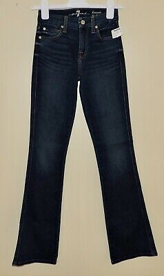 "SEVEN FOR ALL MANKIND KIMMIE BOOTCUT NWT Women Sz 23 Dark Denim MDNG Jeans 33""L"