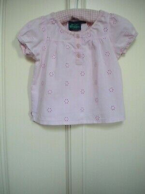 Mini Boden Girls' Pink Short Sleeve Blouse/Top Age 18-24 Months
