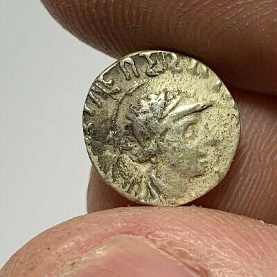 ANCIENT GREEK SILVER COIN HEMIDRACHM UNCERTAIN 1.2gr 11.5mm