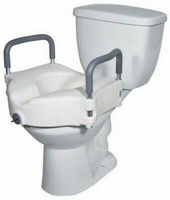 Drive Universal Plastic Raised Elevated Toilet Seat with Removable Arms
