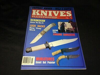 Fall 1987 Knives Illustrated Magazine~Damascus Steel, Scrimshaw, Miniatures ++