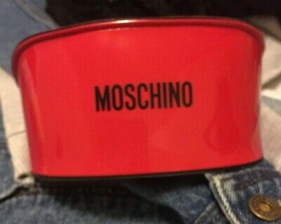 MOSCHINO glasses sunglasses spectacle case AUTHENTIC red mens womens XL