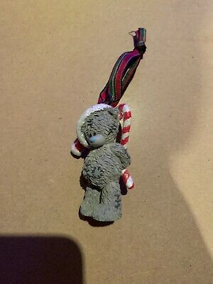 ME TO YOU TATTY TEDDY BEAR XMAS TREE HANGING DECORATION - With Candy Canes