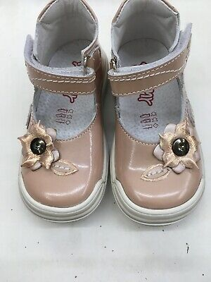 TODDLER GIRLS SHOES By BELLAMY. Size 23 Uk 6. Narrow Fit New In Box