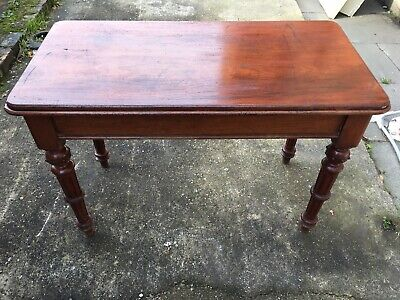 Antique Victorian Mahogany Or Oak,Console/hall table sideboard Turned Legs