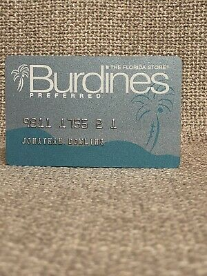 Burdine's Department Store Vintage Collectors Credit Card