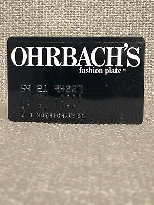 Ohrbach's Department Store Vintage Collectors Credit Card