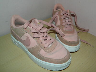 Nike Air Force AF-1 blush pink suede lace up shoes trainers uk 3 eur 35.5