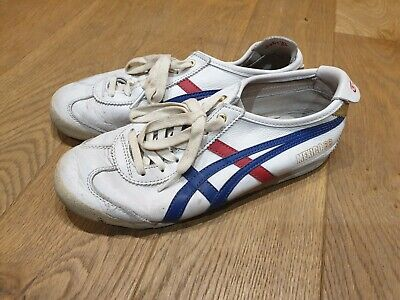 ASICS ONITSUKA TIGER MEXICO 66 TRAINERS WHITE/BLU/RD size uk4.5 eur 37.5