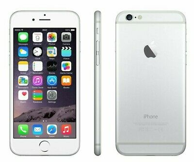UNLOCKED AT&T Apple iPhone 6 4G LTE Silver White Video Camera Smart Cell Phone