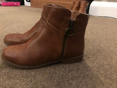 River Island girls tan boots shoes size UK 13 kids