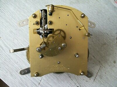 Smiths floating balance clock movement rear wind with hands / gong / screws