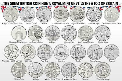 10P A-Z Alphabet 10 Pence 2018  Uncirculated Coins - Various Designs