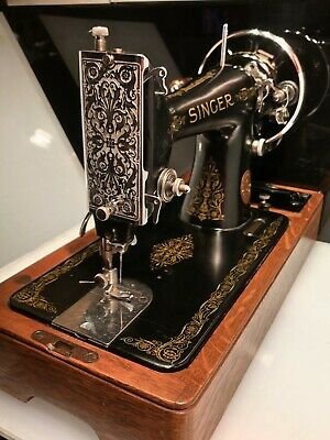 Vintage (1940) Semi Industrial Singer 99K Hand Crank Sewing Machine Working