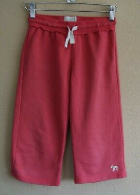 Mini Boden Pink Cotton-jersey Cropped Trousers with Elasticated Waist Age 9 yrs