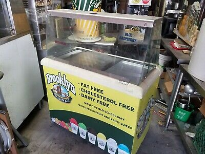 Used ice cream dipping cabinet