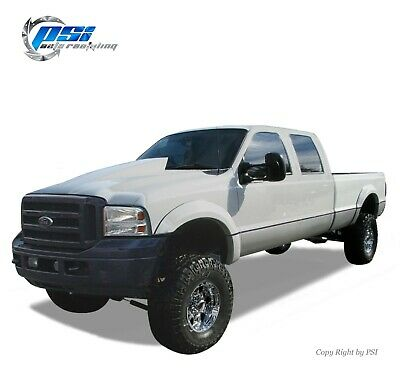 OE Style Fender Flares Fits Ford F-250, F-350 Super Duty 99-07 Paintable Finish