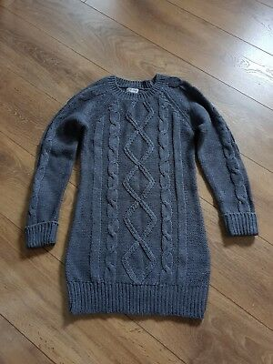 Girls Next Size 11-12 Years Old Grey Knitted Jumper, Acrylic/ Wool, warm