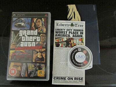 Sony Psp Game Grand Theft Auto Liberty City Stories With Map