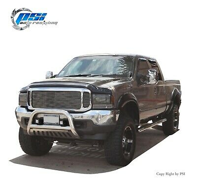 Extension Style Fender Flares Fits Ford F-250, F-350 Super Duty 99-07 Paintable