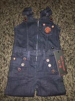 True Religion Unisex Childrens Dungarees Jeans Manchester United Bnwto 2/3