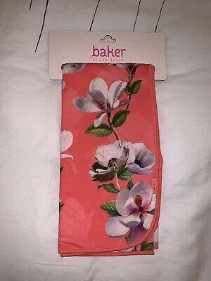 Ted Baker Girls Coral Pink Floral Print Throw Blanket Free Postage