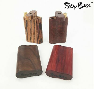 Handmade dugout with Small cigarette style one hitter – exotic woods